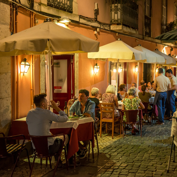 Lisbon night dining
