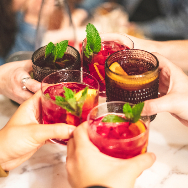 Glasses with sangria