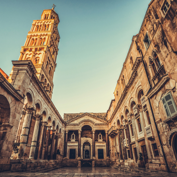 view of Diocletian's Palace in split