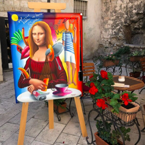 painting by local artist in split