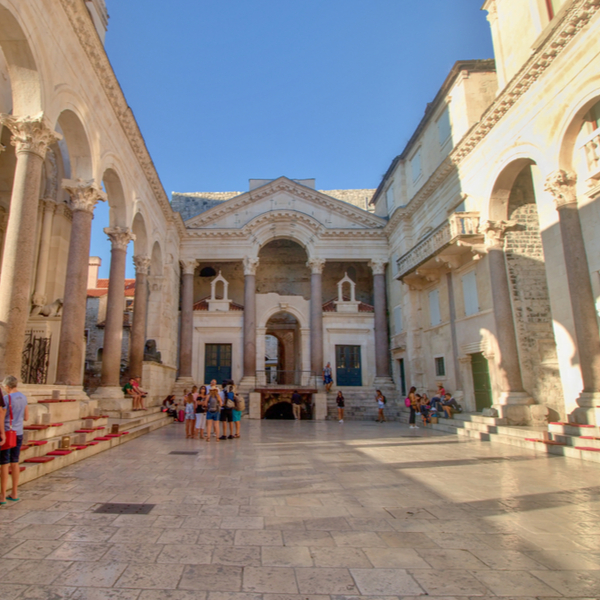 people visiting Diocletian's Palace