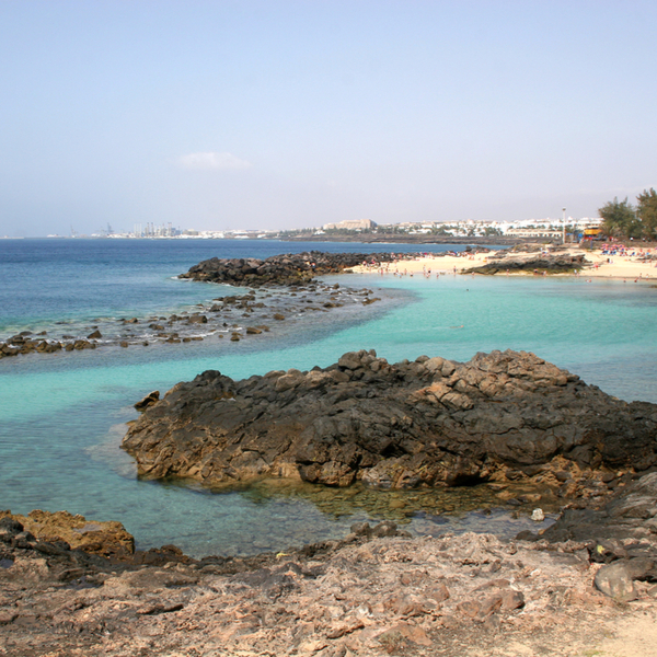 snorkelling at beach in Costa Teguise
