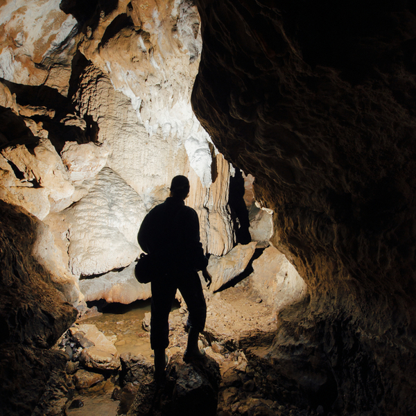 exploring the famous cannibal cave in fiji