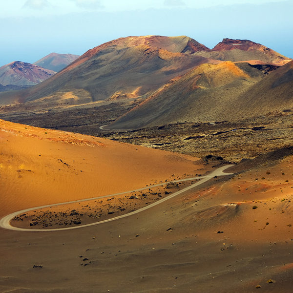 view of mountains in lanzarote national park