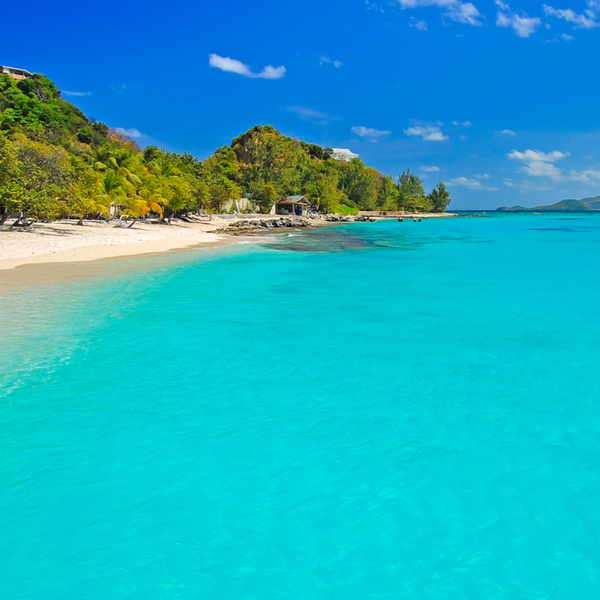 pristine turquoise waters at grand anse beach