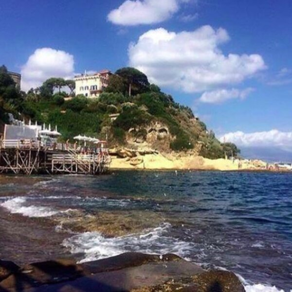 view of rocky beach in naples