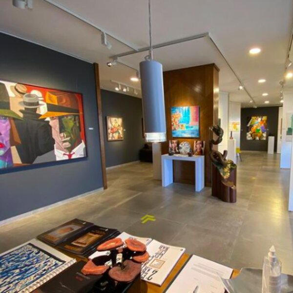 art pieces on display at lanzarote art gallery