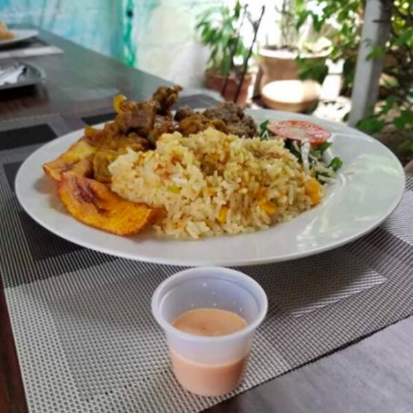 traditional Grenadian lunch