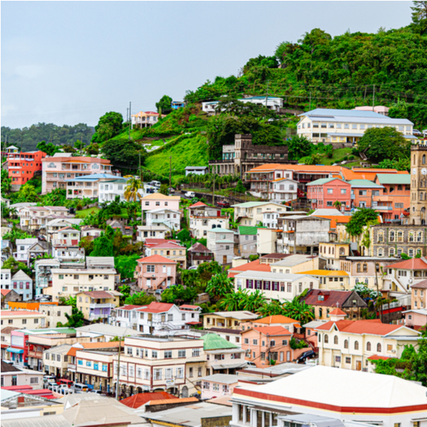 view of houses at the carenage in grenada