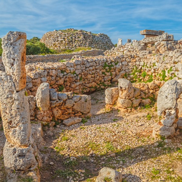 archeological remains at Trepucó ancient village in menorca