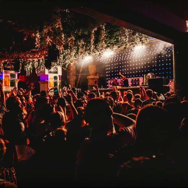 crowd and dj booth at club in malta