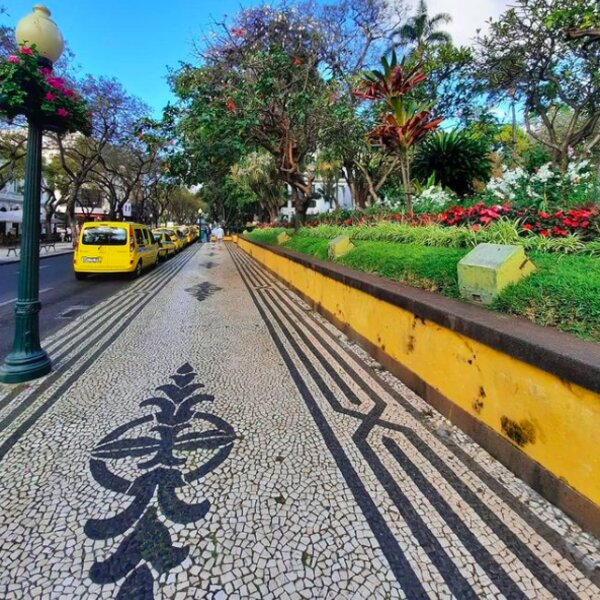 exploring streets of funchal on walking tour of madeira