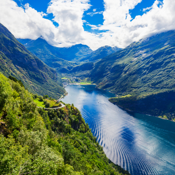 panoramic view of one of the best fjords in western norway