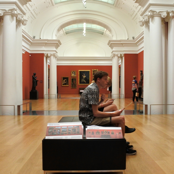 people looking at exhibits at art gallery in auckland