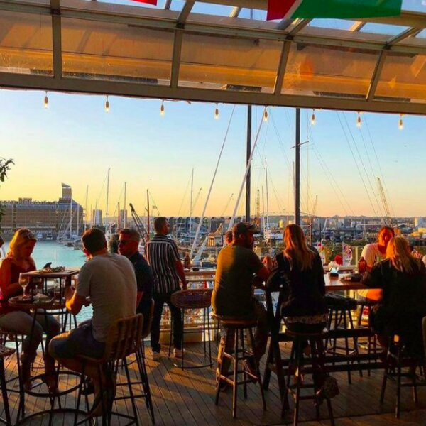 bar with harbour view in auckland