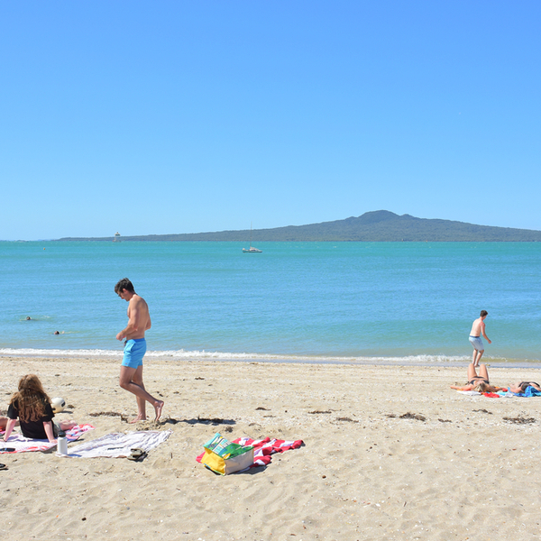 people at mission bay beach in auckland