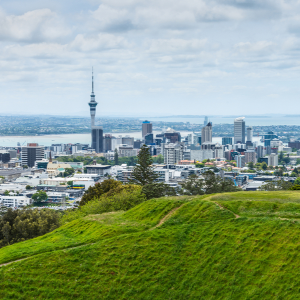 view of auckland from top of mount eden