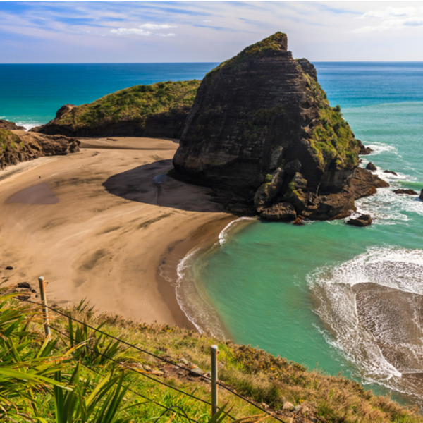 beach on west auckland in new zealand