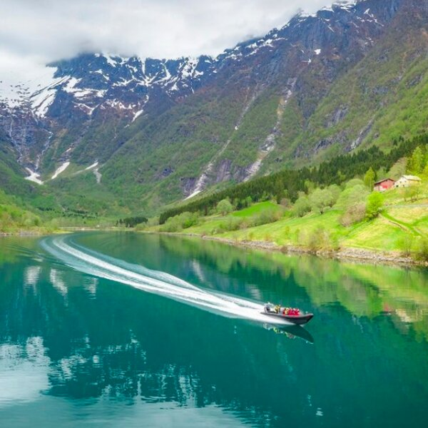 exploring olso's fjords in an RIB boat tour