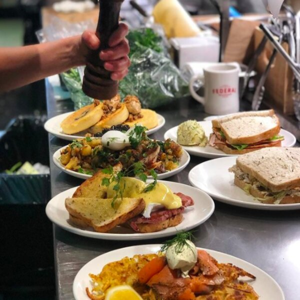 breakfast and brunch dishes at auckland cafe
