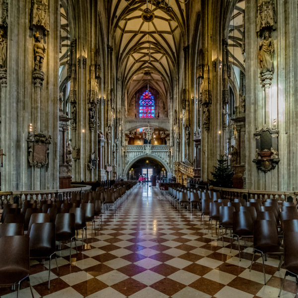 interior of st stephens cathedral in vienna