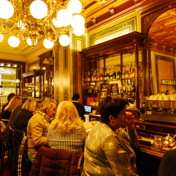 famous historic coffee house in vienna