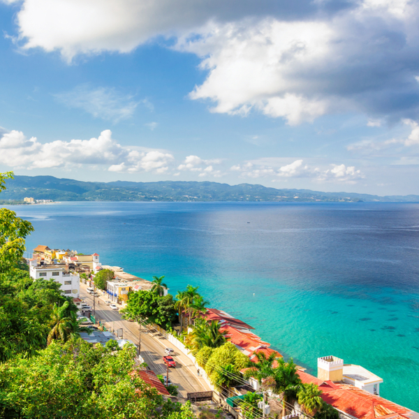 view of sunny but cloudy weather in jamaica