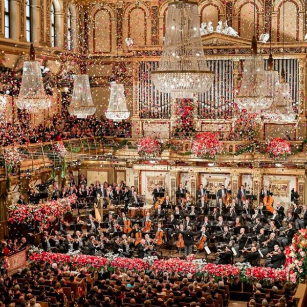 Vienna Philharmonic performing at the new years concert