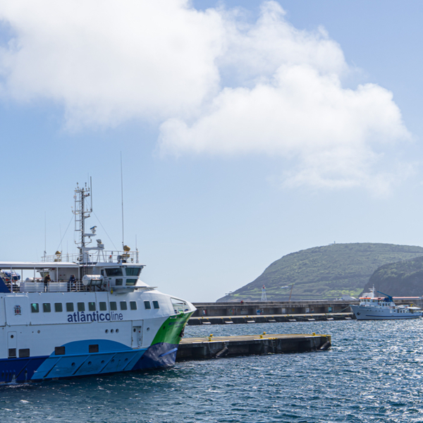 island hopping via the ferry in azores