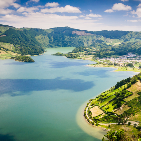 view of sao miguel island in the azores