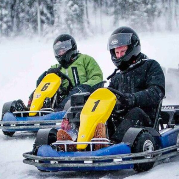 go karting on a frozen lake in riga