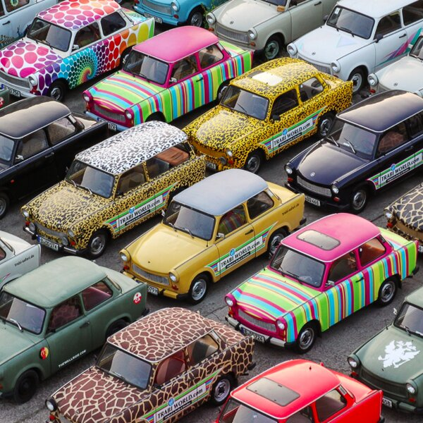 famous trabant cars for tours in berlin