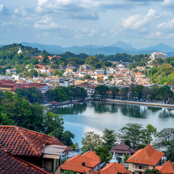 ancient town of kandy in sri lanka
