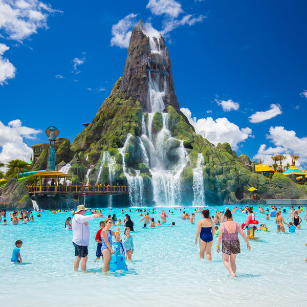 people swimming at waterpark in orlando