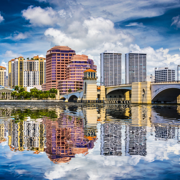 waterfront buildings in west palm beach